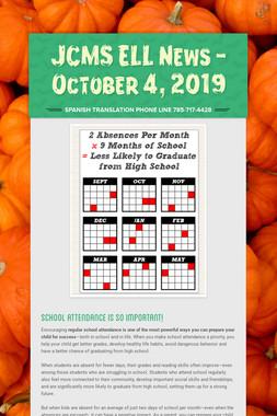 JCMS ELL News - October 4, 2019