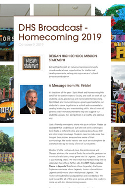 DHS Broadcast - Homecoming 2019