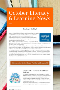 October Literacy & Learning News