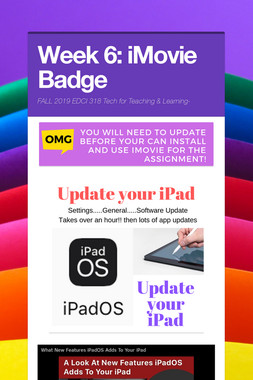Week 6: iMovie Badge