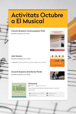 Activitats Octubre a El Musical