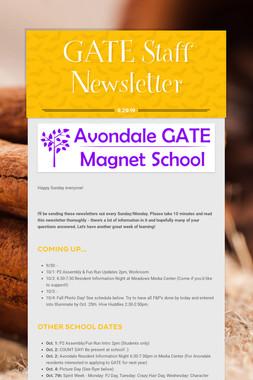 GATE Staff Newsletter