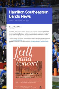 Hamilton Southeastern Bands News