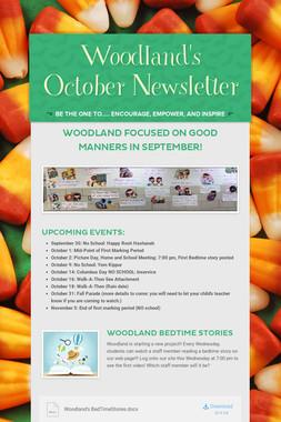 Woodland's October Newsletter