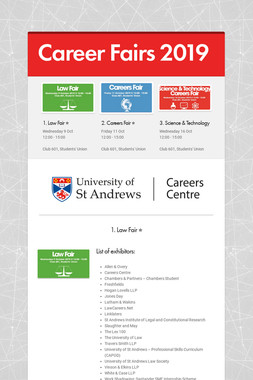 Career Fairs 2019