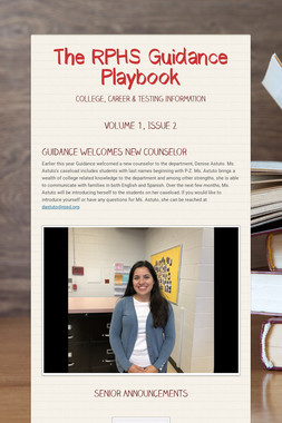 The RPHS Guidance Playbook