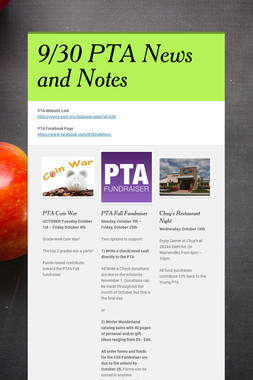 9/30 PTA News and Notes