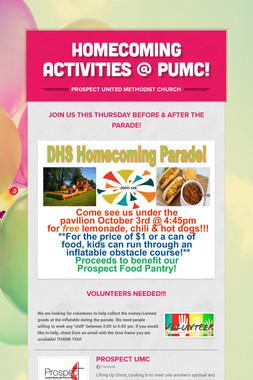 Homecoming Activities @ PUMC!