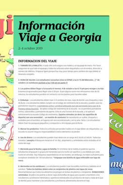 Información Viaje a Georgia