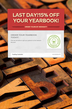 Last Day!15% Off Your Yearbook!