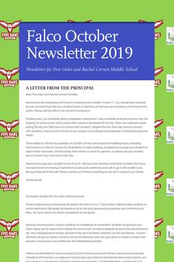 Falco October Newsletter  2019
