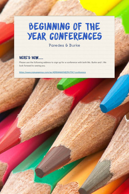 Beginning of the Year Conferences