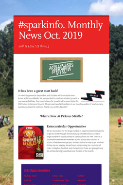 #sparkinfo. Monthly News Oct. 2019