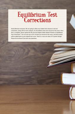 Stoichiometry Test Corrections