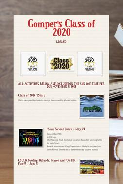Gomper's Class of 2020