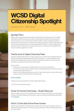 WCSD Digital Citizenship Spotlight