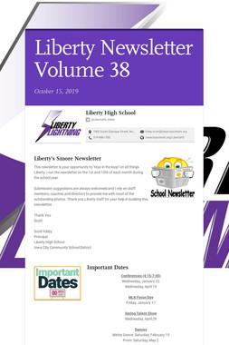 Liberty Newsletter Volume 38