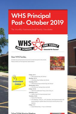 WHS Principal Post- October 2019