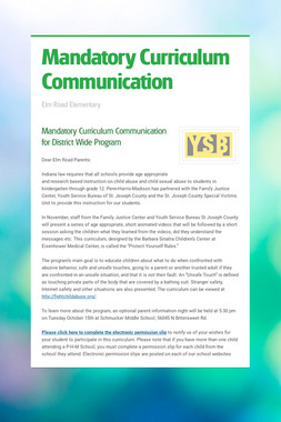 Mandatory Curriculum Communication