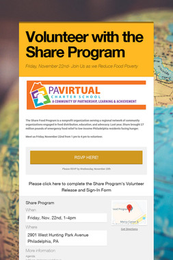 Volunteer with the Share Program