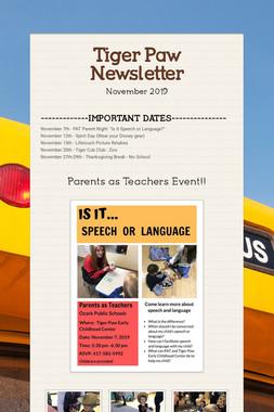 Tiger Paw Newsletter