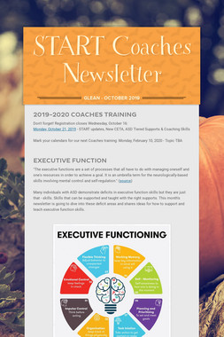 START Coaches Newsletter