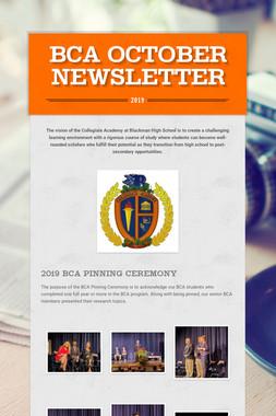 BCA October Newsletter
