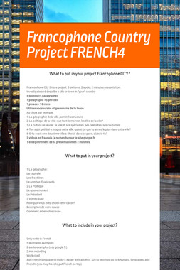 Francophone Country Project FRENCH4