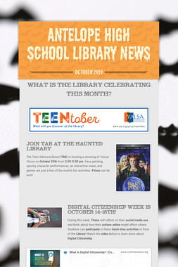Antelope High School Library News