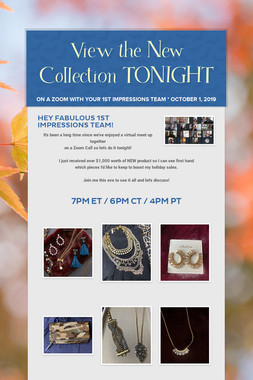 View the New Collection TONIGHT