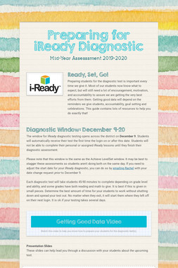 Preparing for iReady Diagnostics