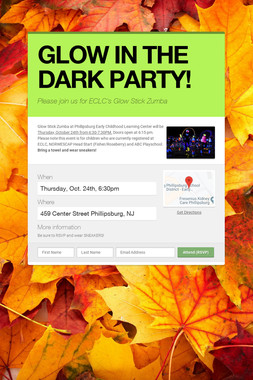GLOW IN THE DARK PARTY!