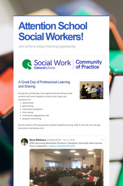 Attention School Social Workers!