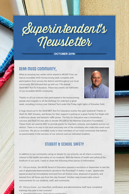 Superintendent's Newsletter