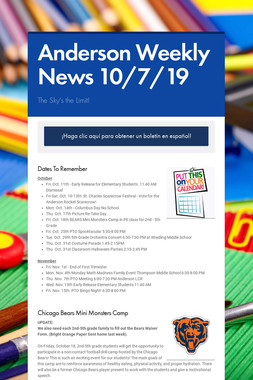 Anderson Weekly News 10/7/19