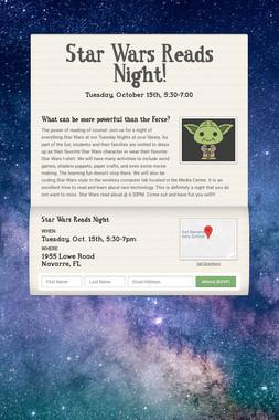 Star Wars Reads Night!