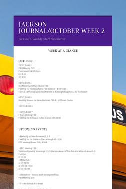 JACKSON JOURNAL/OCTOBER WEEK 2