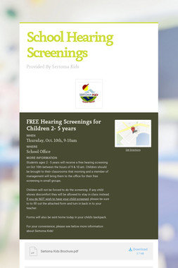 School Hearing Screenings