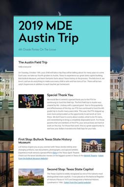 2019 MDE Austin Trip