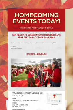 HOMECOMING EVENTS TODAY!