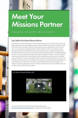 Meet Your Missions Partner
