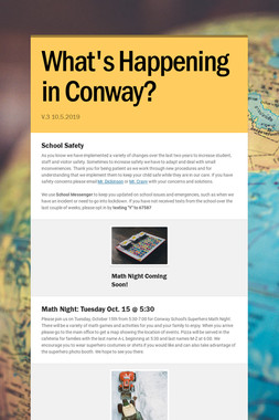 What's Happening in Conway?