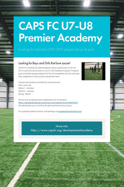 CAPS FC U7-U8 Premier Academy