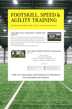 FOOTSKILL, SPEED & AGILITY TRAINING