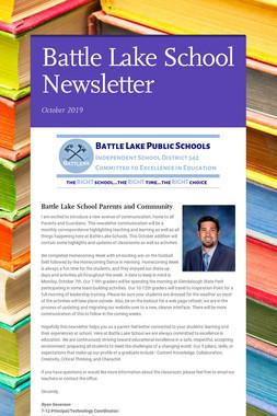 Battle Lake School Newsletter