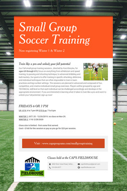 Small Group Soccer Training