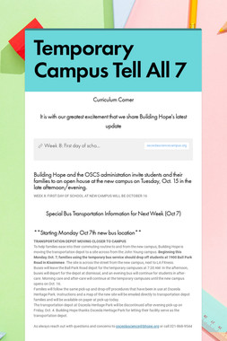 Temporary Campus Tell All 7