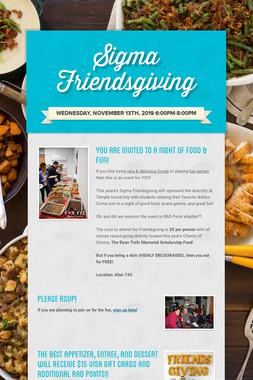Sigma Friendsgiving