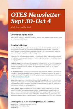 OTES Newsletter Sept 30-Oct 4
