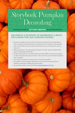 Storybook Pumpkin Decorating